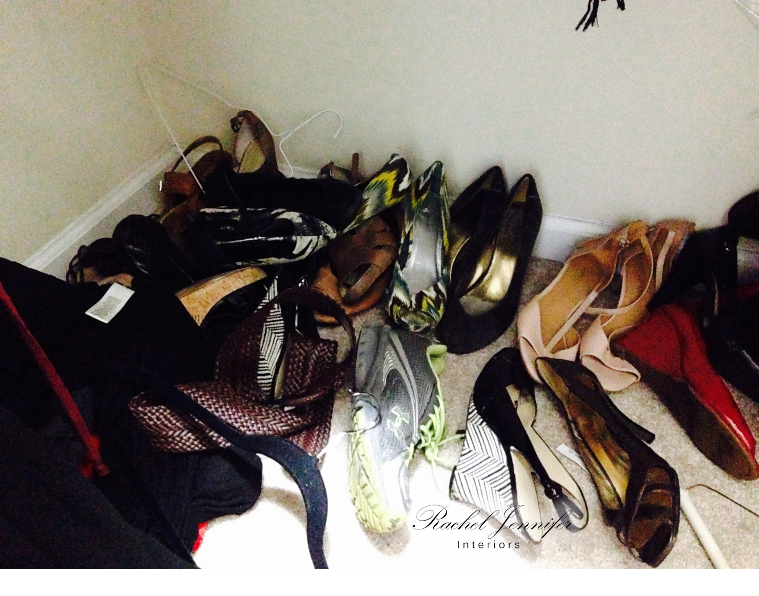 master hers closet shoes before 1