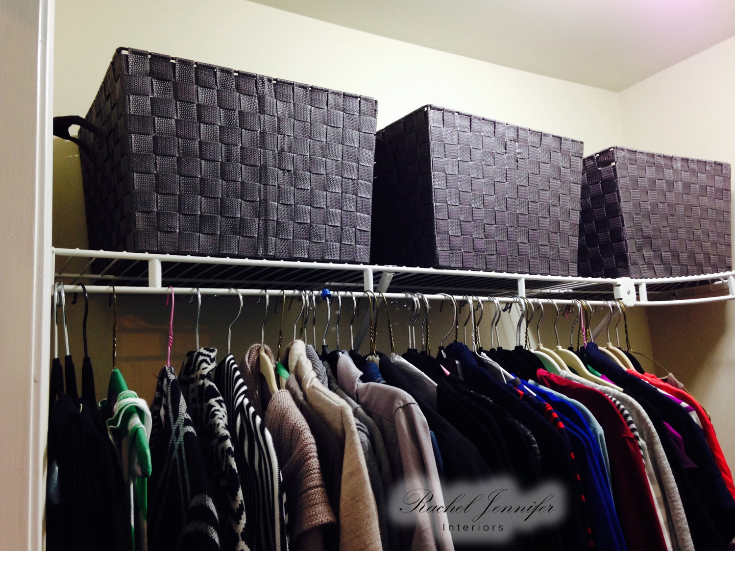 master hers closet top shelf after 1